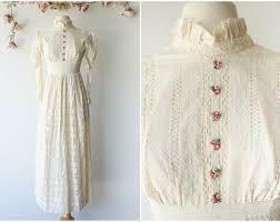 cream lace dress etsy