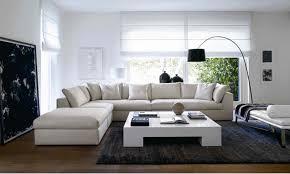 Living Room  Very Simple Living Room Design With White Sectional - Simple living room design