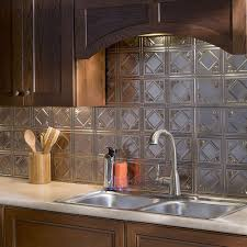 Kitchen Backsplash Panels Fasade Traditional Style 4 Brushed Nickel 18 Inch X 24 Inch