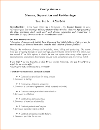 marriage contract sample sample marriage separation agreement form