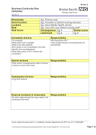 business continuity plan example for grid paper template numbering