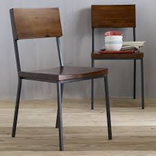Steel Living Room Furniture Mesmerizing Metal And Wood Dining Chairs Rustic On