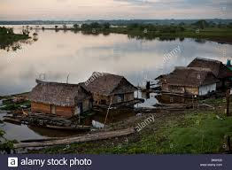 floating houses floating houses along the amazon river at iquitos peru south stock