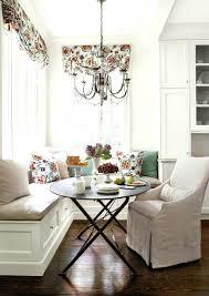 kitchen nook decorating ideas breakfast nook chandelier and floral valances for breakfast