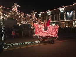 santa land here lighted sign ferndale lighted tractor parade home facebook