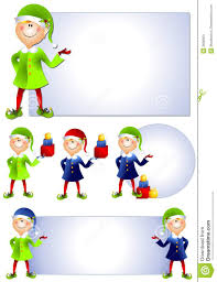 christmas santa elf clip art 2 stock images image 3696804