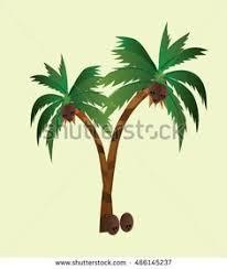 coconut trees design vector 4 vector illustration coconut tree