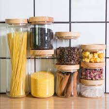 food canisters kitchen zakka style glass spice jar kitchen canisters cookie jars