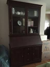pottery barn secretary desk pottery barn graham large secretary desk and hutch mahogany stain ebay
