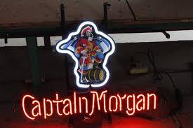 captain morgan neon bar light captain morgan neon sign captain morgan and neon