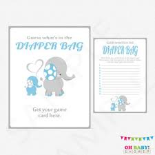 what s in the bag baby shower best blue and gray elephant baby shower products on wanelo