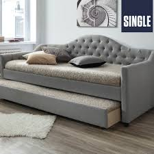 Single Bed Frame With Trundle Dealsdirect Au York Sofa Daybed Fabric Single Bed Frame With