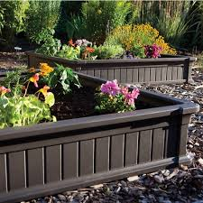 Raised Garden Bed With Bench Seating Lifetime 4 U0027 X 4 U0027 Raised Garden Bed Brown Walmart Com