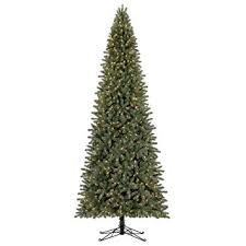 led pre lit artificial fir 12 slim tree
