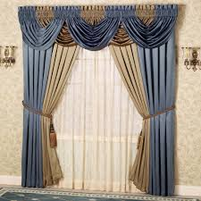 elegant curtains touch of class majesty waterfall valance golden
