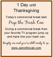 one more mini task to help make thanksgiving easier read them all