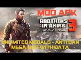 brothers in arms apk data brothers in arms 3 mod apk unlimited medals anti ban mega mod