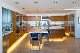 Lighting In Kitchen Ideas Contemporary Kitchen With Warm White Toe Kick Lighting Toe Kick