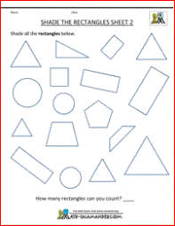 free shape worksheets kindergarten