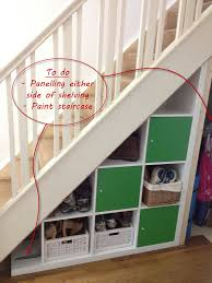 ikea expedit hack under stairs storage degree angle stair