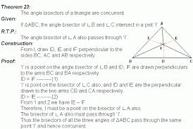 theorem 23 angle bisectors of a triangle middle high