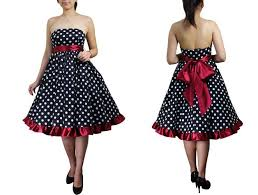 fun u2013 flirty polka dot dresses u2013 strapless vintage style polka dot