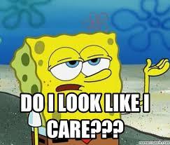 Like I Care Meme - i look like i care