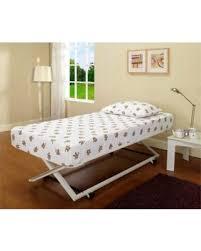 Pop Up Bed Deal Alert 31 Off 39 U0027 U0027 Twin Size White Metal Pop Up High Riser