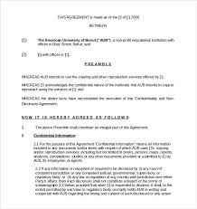 10 confidentiality agreement templates u2013 free sample example