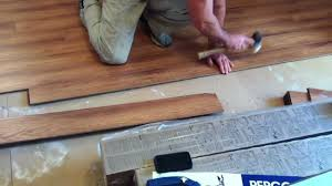 Laminate Floor Moisture Barrier Pergo Laminate Flooring Installation Youtube