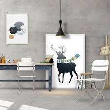 modern fashion colorful deer composition poster a4 print wall