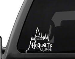 hogwarts alumni bumper sticker harry potter wall decal etsy