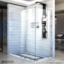 30 Shower Door Dreamline Linea Frameless Shower Door Two Attached Glass Panels