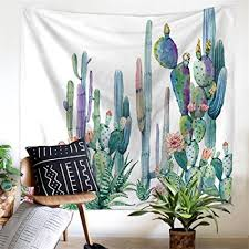 cactus home decor amazon com cactus decor tapestry wall hanging decor art home decor