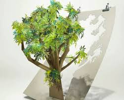 beautiful papercraft tree pledges to save 6 500 acres of