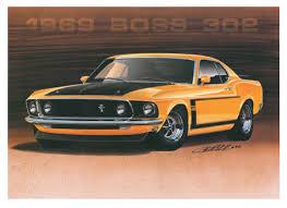 1969 mustang orange design factory prints 1969 mustang 302 orange