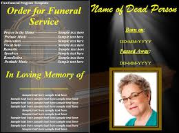 make your own funeral program free funeral program template best word templates