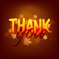 creative text thank you on maple leaves background for happy
