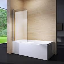 pannelli per vasca da bagno parete vasca con anta battente in cristallo 6mm cornelia ebay