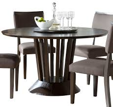 round table with lazy susan dining room