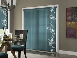 Decorative Patio Doors Decorative Blue Tinted Sliding Glass Door With White Floral