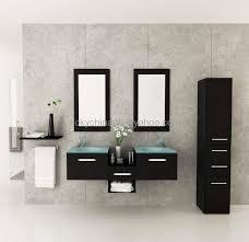 modern bathroom vanity cabinets drainage pipe installation corner