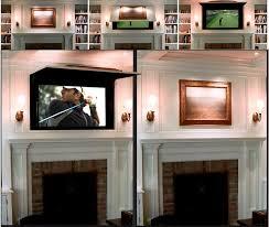 Decorative Flat Screen Tv Covers 47 Best Hiding Flat Screen Tvs Images On Pinterest Flat Screen