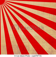 large and white japanese rising sun stock illustration