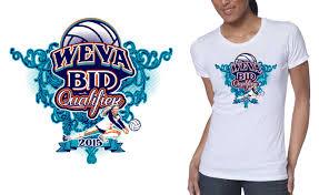 professional volleyball vector tshirt design for 2015 weva