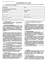 40 condo lease template rent lease agreement real estate forms