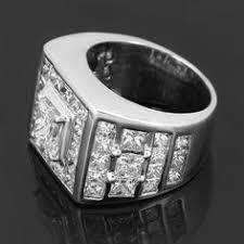 custom rings for men 14k gold 3 row diamond ring 1 35ct luxurman wedding band white