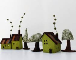 Welcome Home Decorations Felt Ornament Home Decorations Miniature Of Ten Houses Of