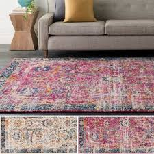 Retro Area Rug Kinsey Distressed Vintage Area Rug 2 X 3 Free Shipping On