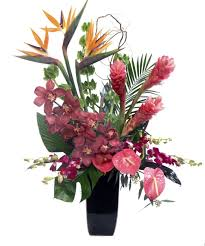 tropical flower arrangements our on ibiza arrangement features tropical flowers and